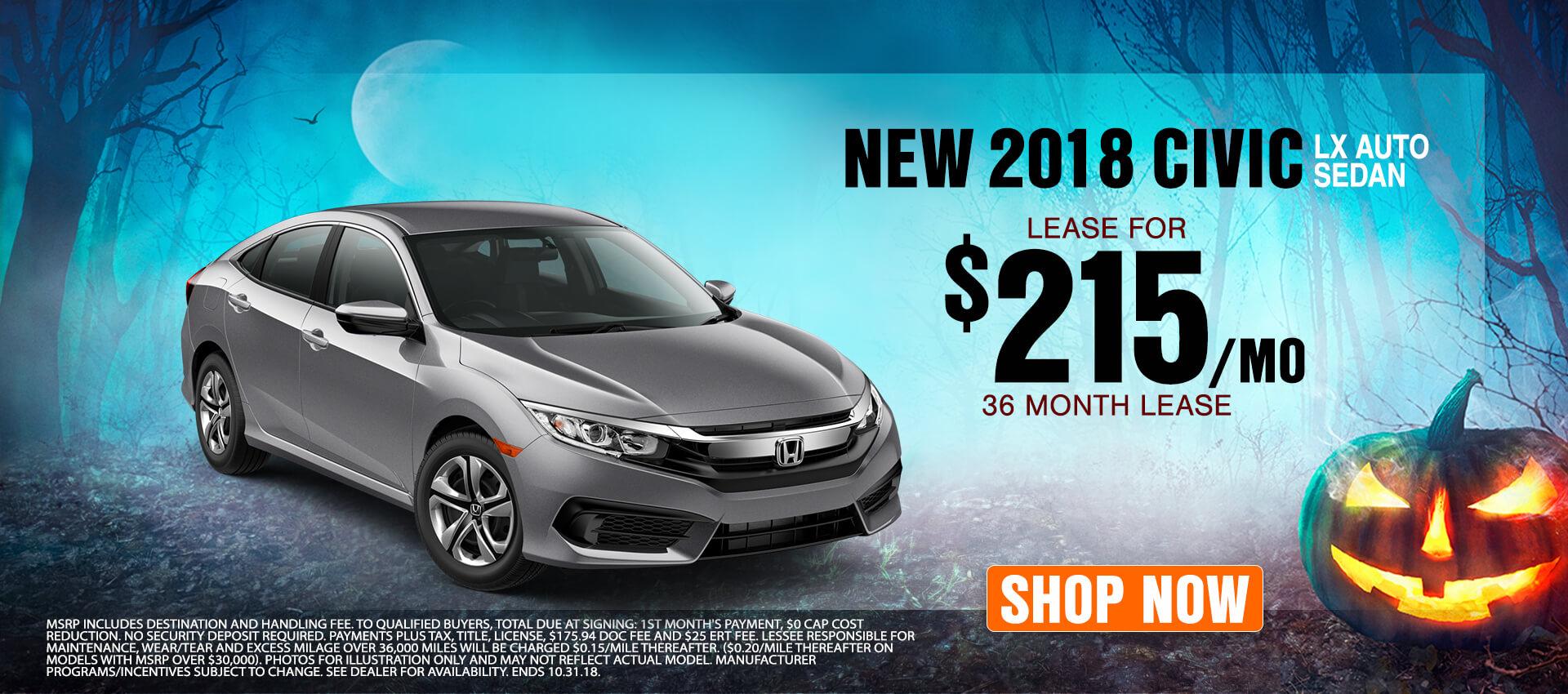 2018 Honda Civic $215