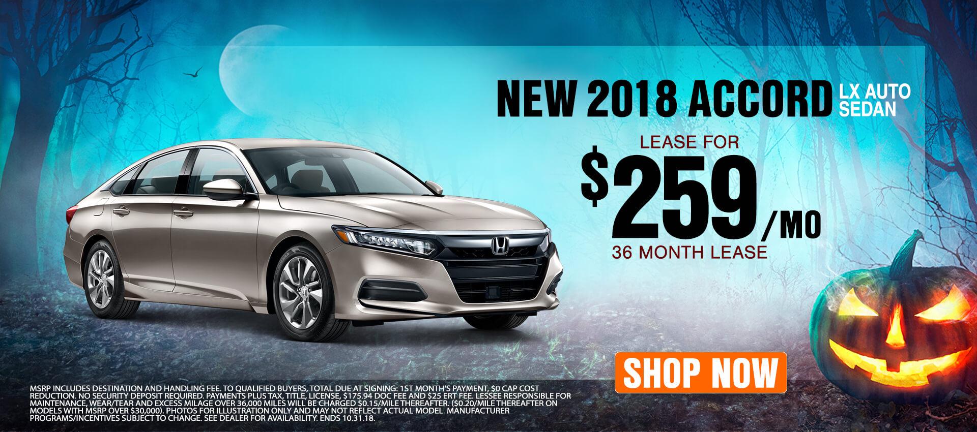 2018 Honda Accord $259