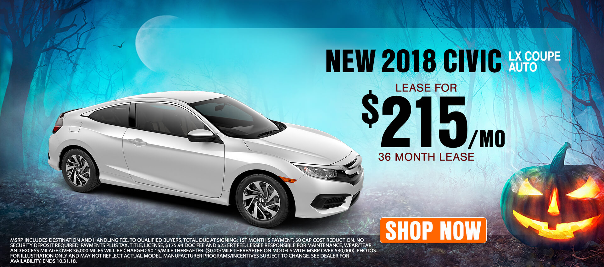 Civic Coupe - Lease for $215