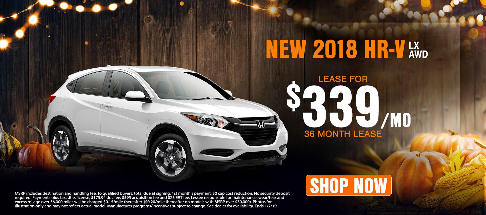2018 HR-V $339 Lease