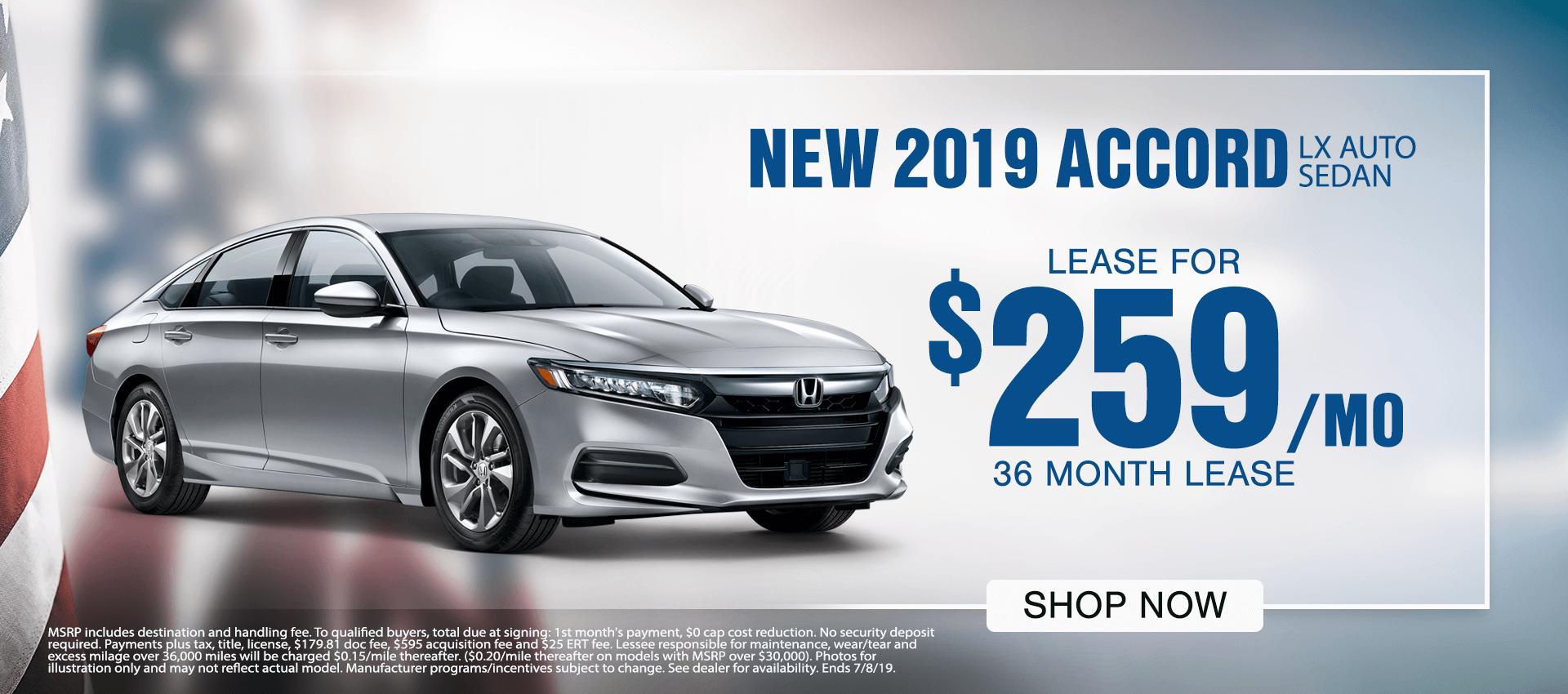 2019 Accord LX Auto Sedan