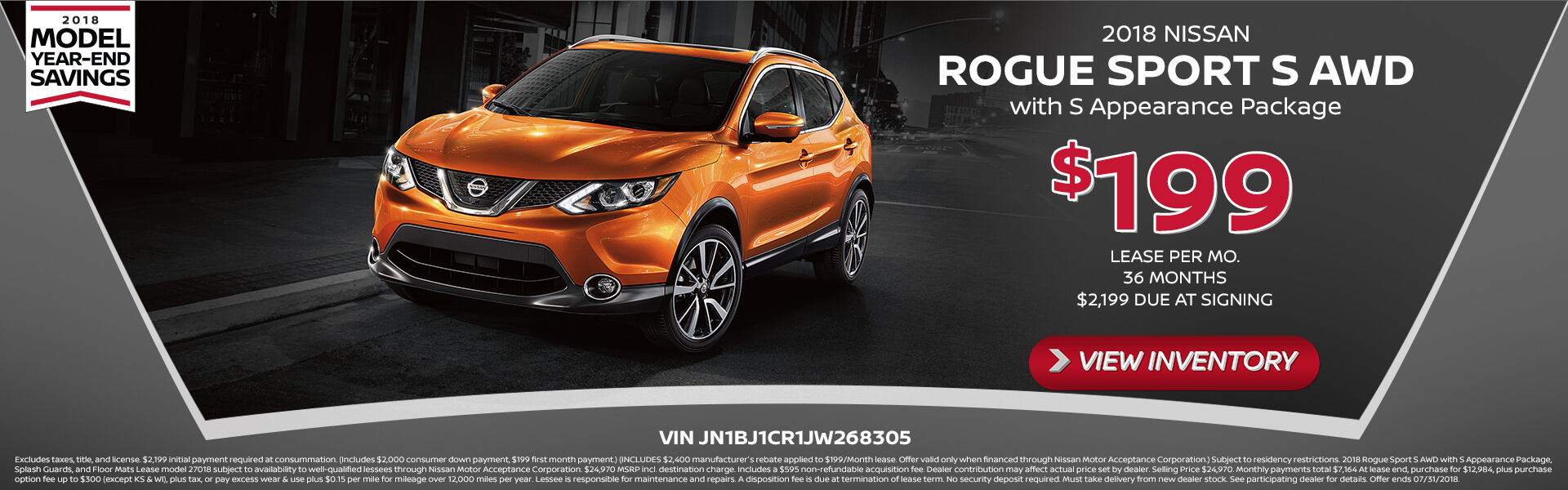 Rogue Sport Lease $199