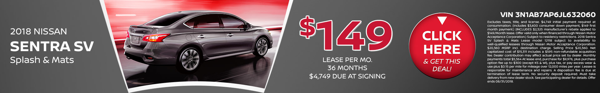Sentra Lease $149