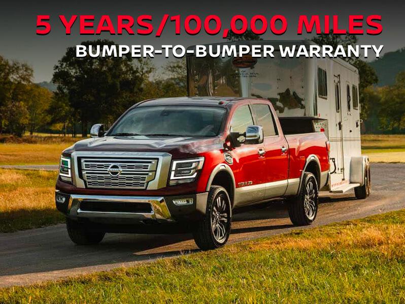 5 years/100,000 miles bumper-to-bumper Warranty