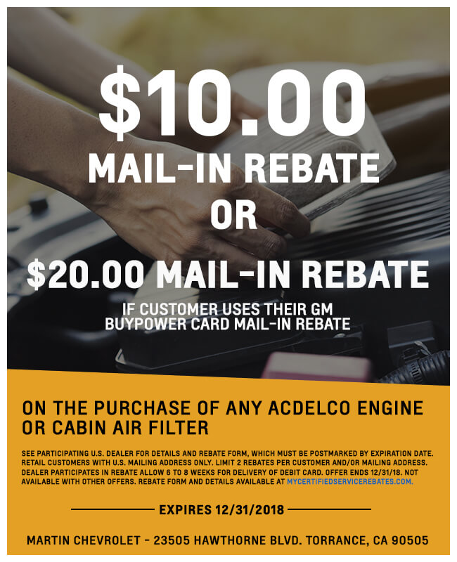 Mail in Rebate