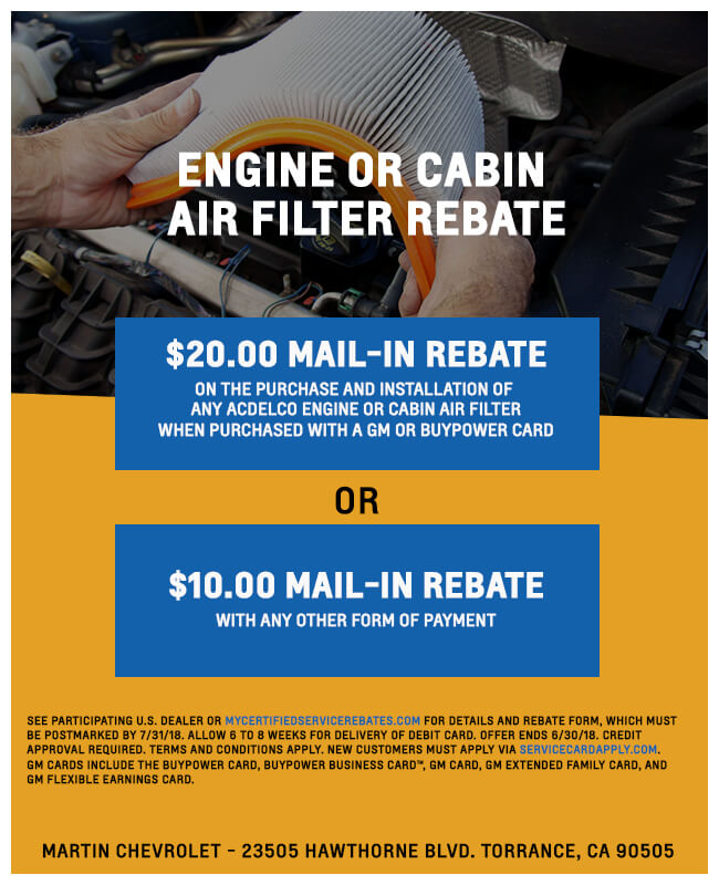 Engine Mail In Rebate