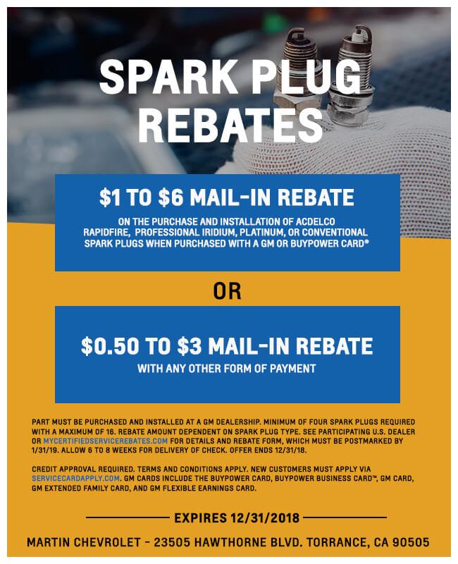 Spark Plug Rebate