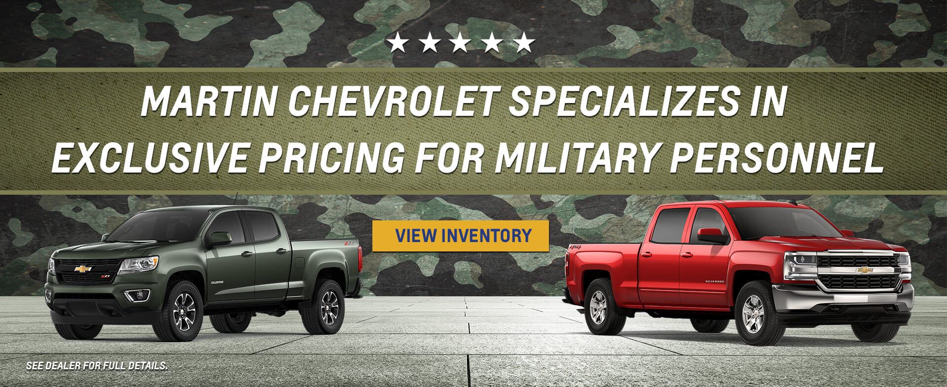 Military Chevy Pricing