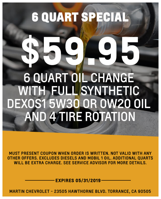6 Quart Oil Change
