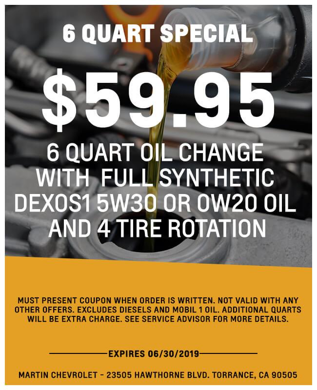 6 Quart Oil Change