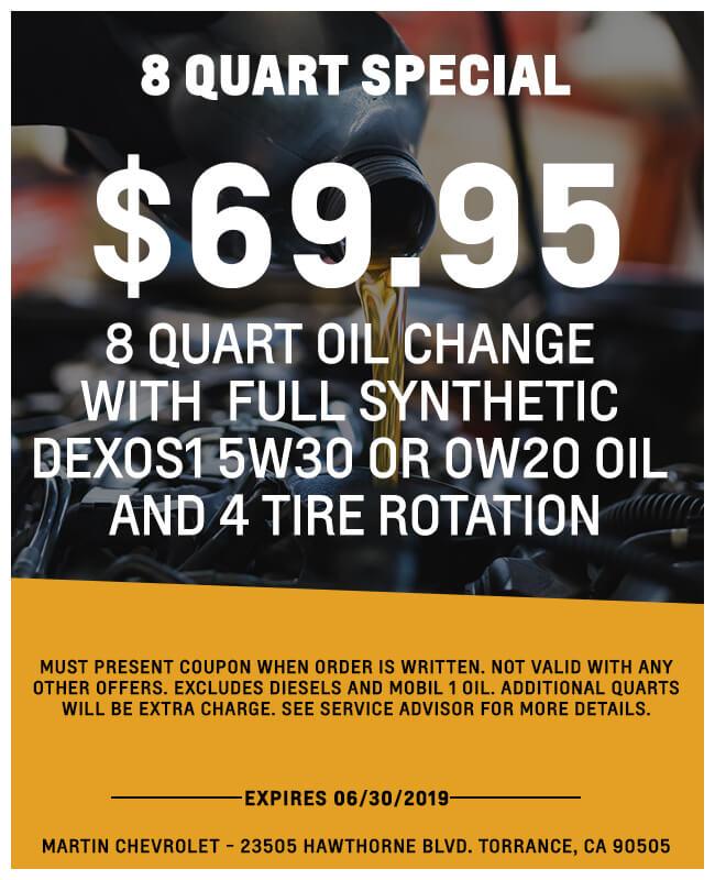 8 Quart Oil Change