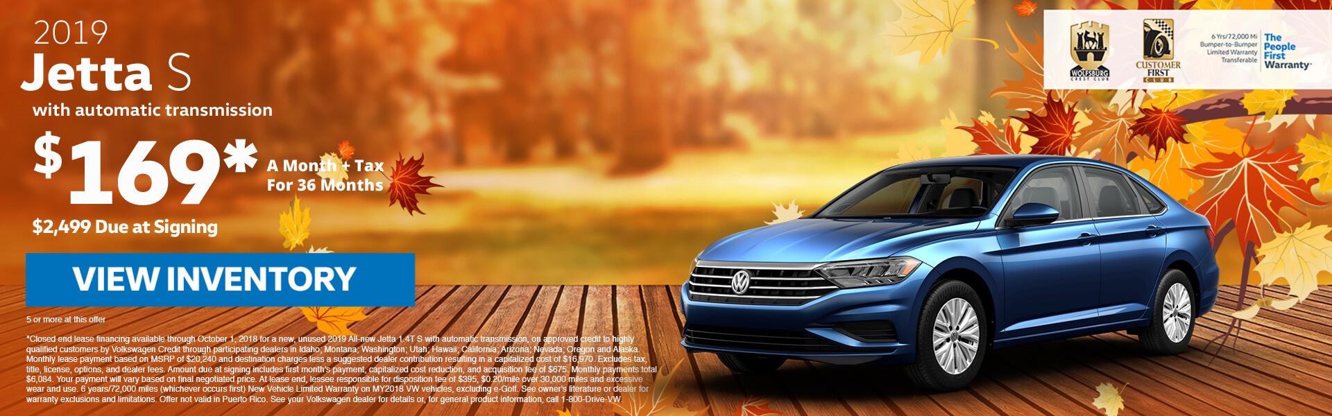 Volkswagen jetta lease $99 a month