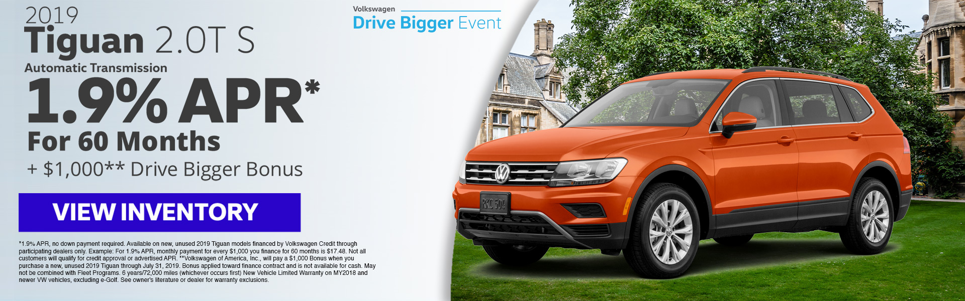 2019 Tiguan 1.9% for 60 Months
