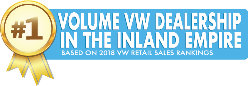 #1 Volume VW Dealership in the Inland Empire - Base don 2018 VW Retail Sales Rankings