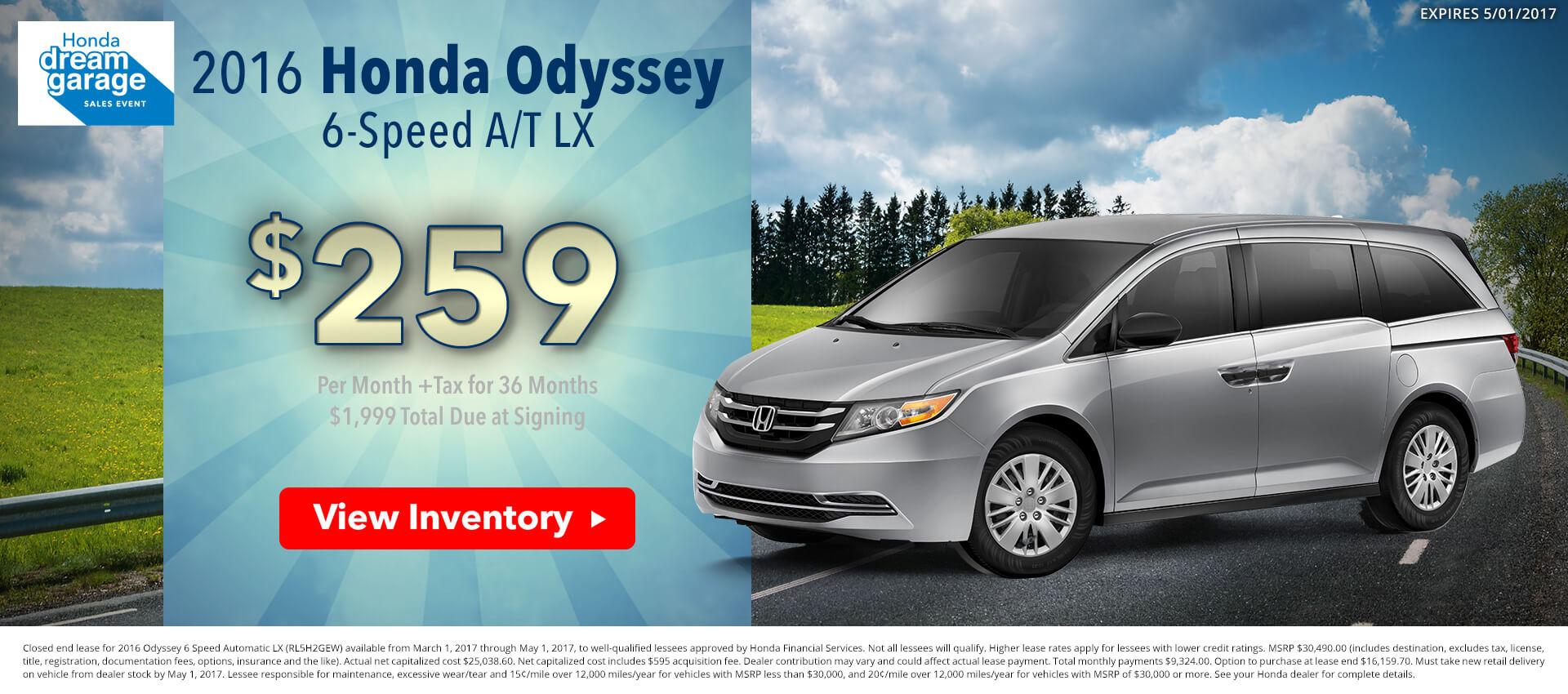 Honda Odyssey HP