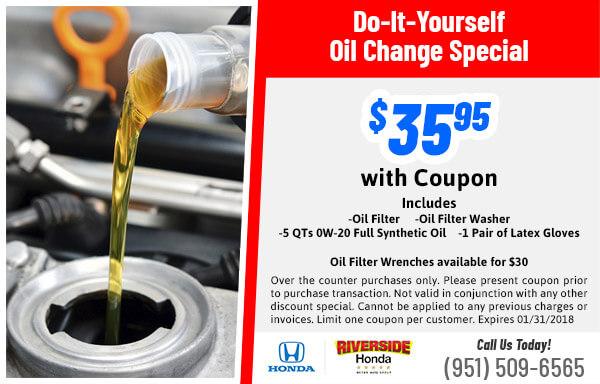 Parts specials riverside honda diy oil changes solutioingenieria Image collections