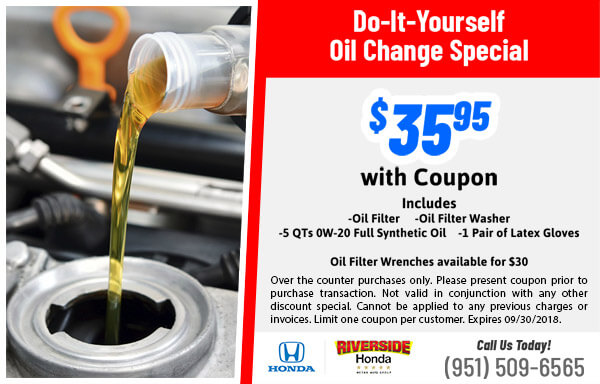 Parts specials riverside honda diy oil changes solutioingenieria Image collections