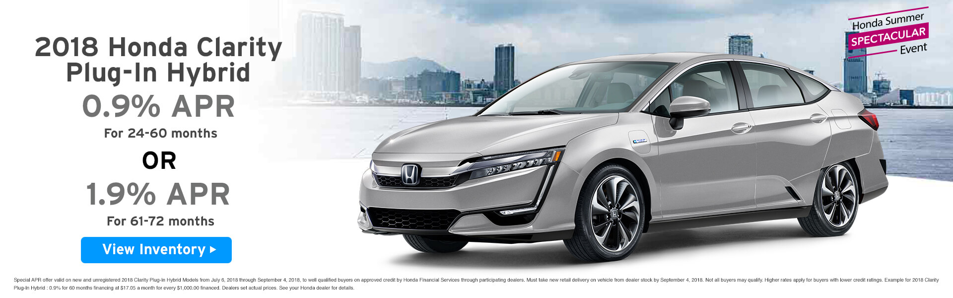 Clarity 0.9% APR Lease $329