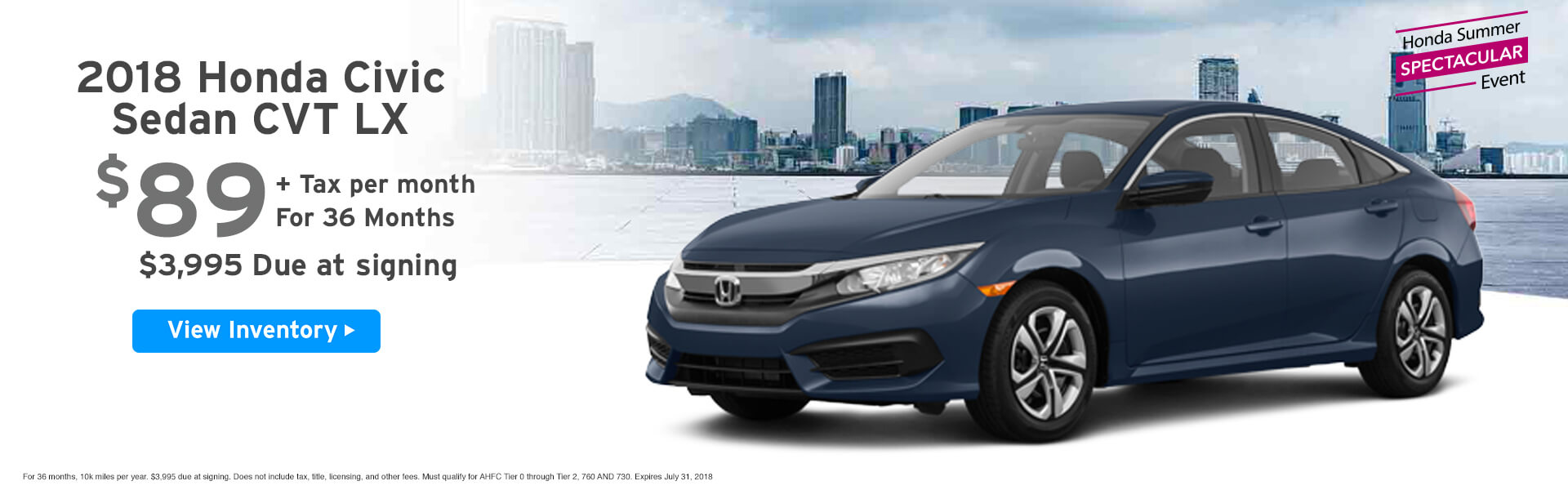 Civic Lease $89