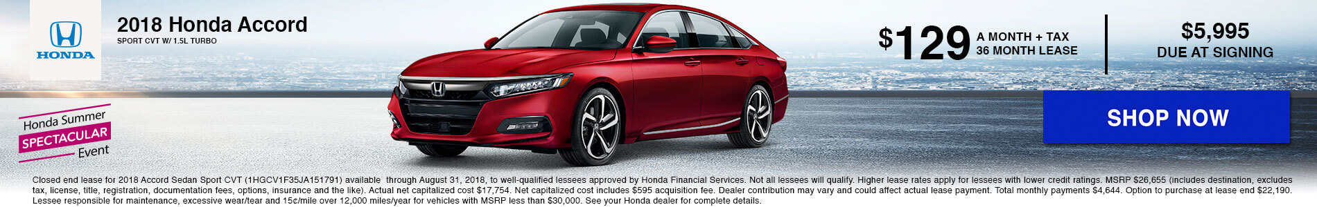Accord Lease $129