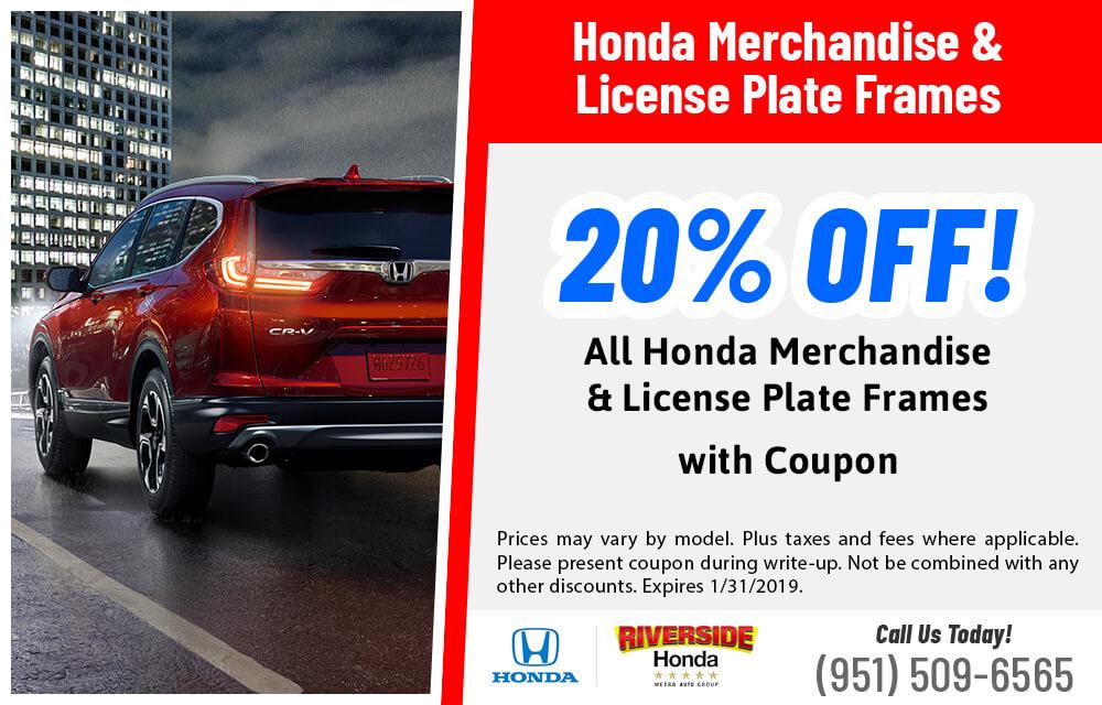20% Honda Merch