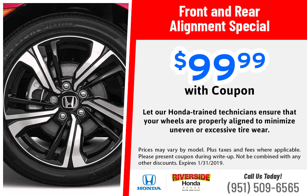 Find Special Prices And Coupons For Service On Hondas At Riverside