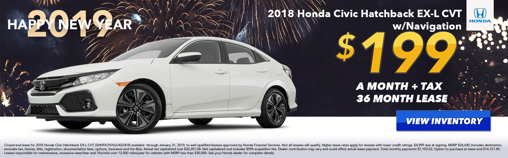 Civic Hatch Lease $69