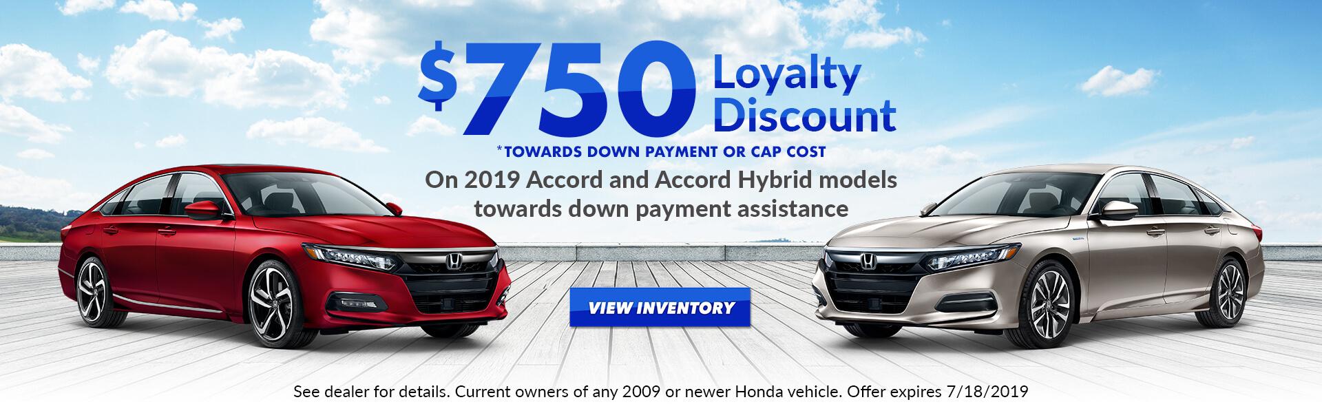 Accord/Accord Hybrid $750