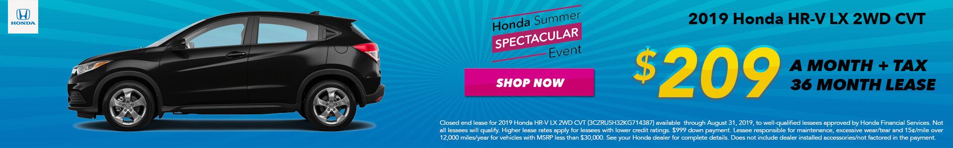 2019 Honda HR-V LX Lease for $209