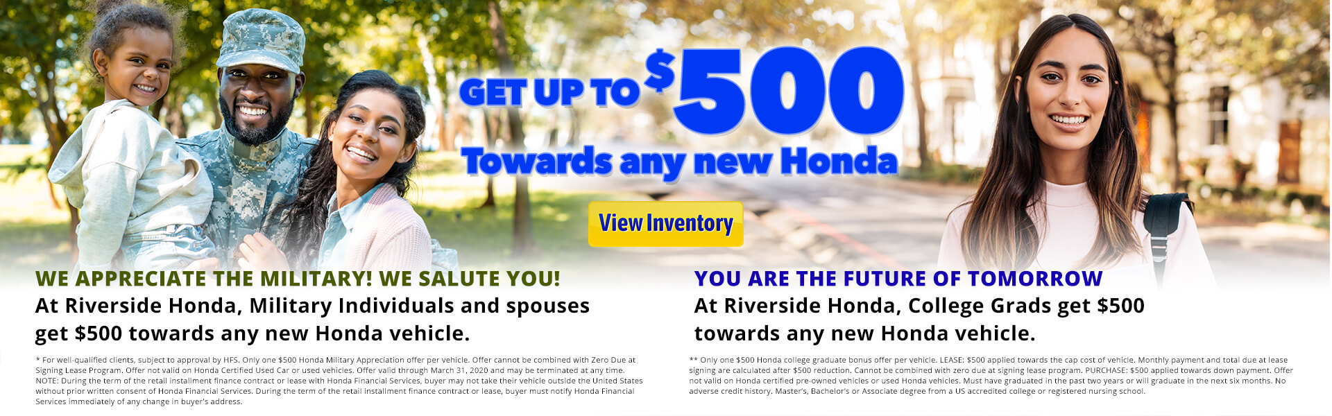 Honda College Grad/Military Rebate