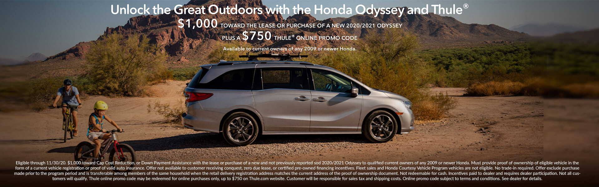 Unlock the Great Outdoors with The Honda Odyssey and Thule