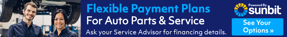 Flexible Payment Plans for Auto Parts & Service. Powered by Sunbit