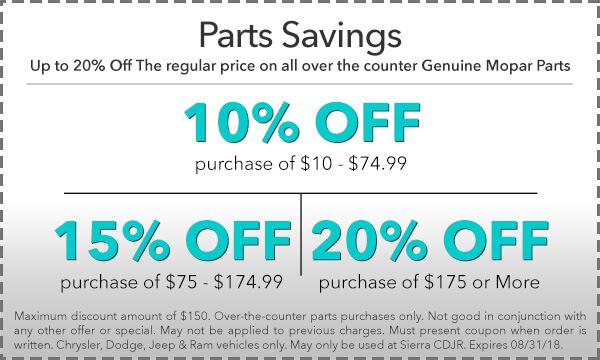 Parts Savings