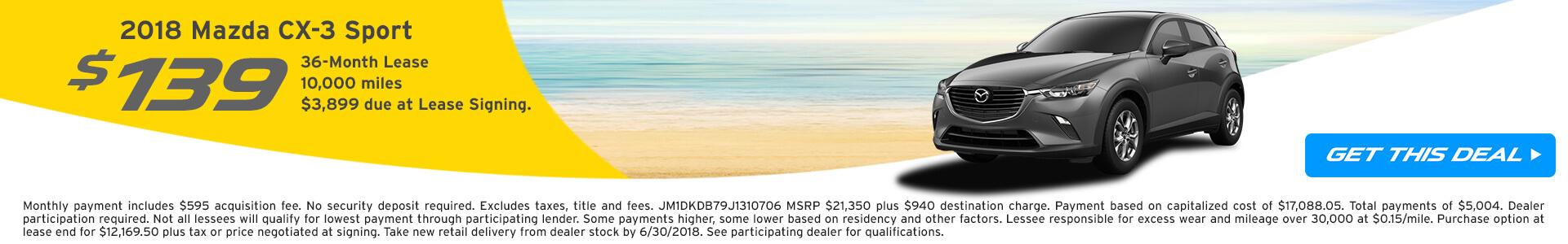 CX-3 Lease $139