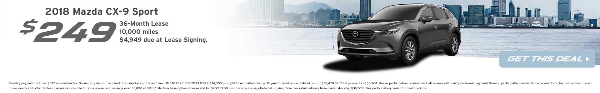 CX-9 Lease $249