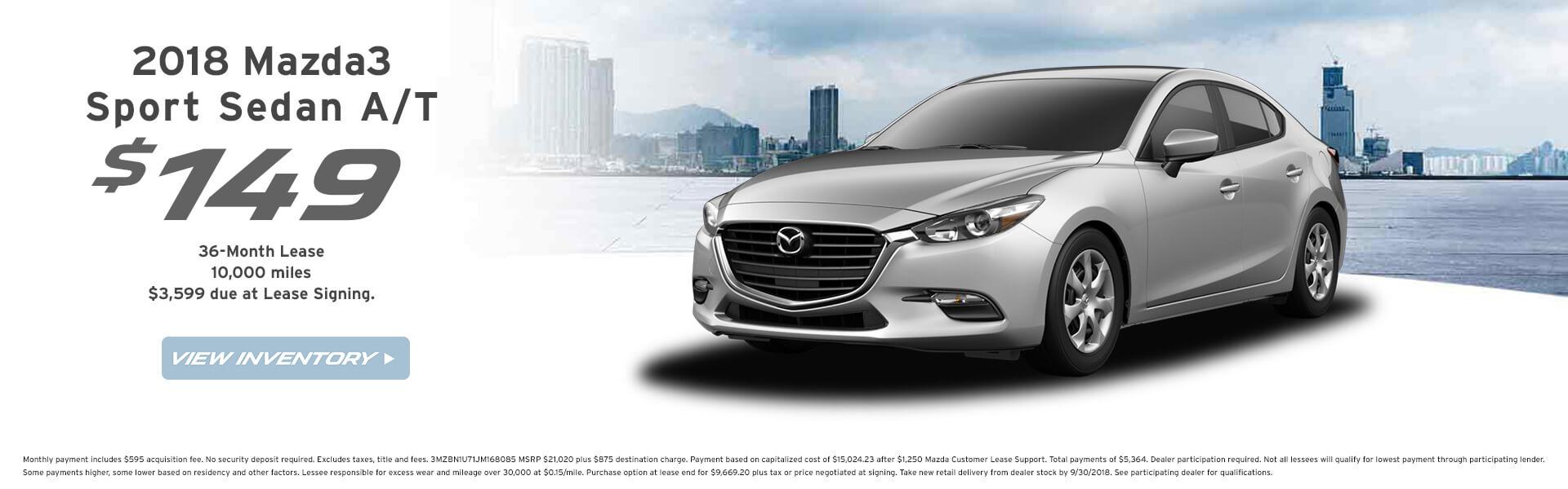 Mazda3 Lease $149