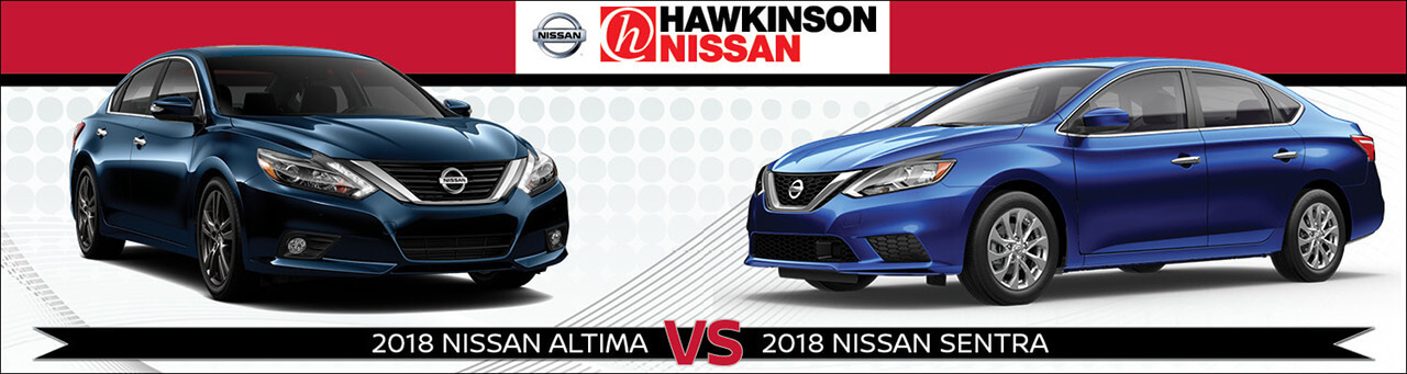2018 Nissan Altima & Nissan Sentra side by side
