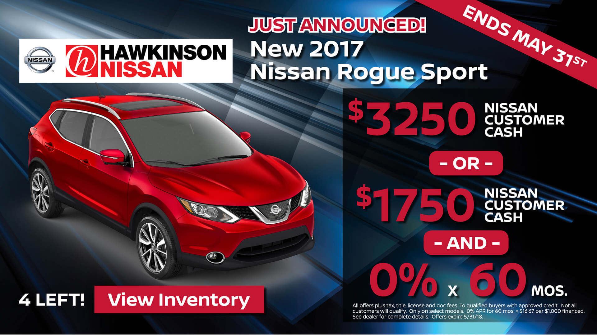 2017 Rogue Sport Sale
