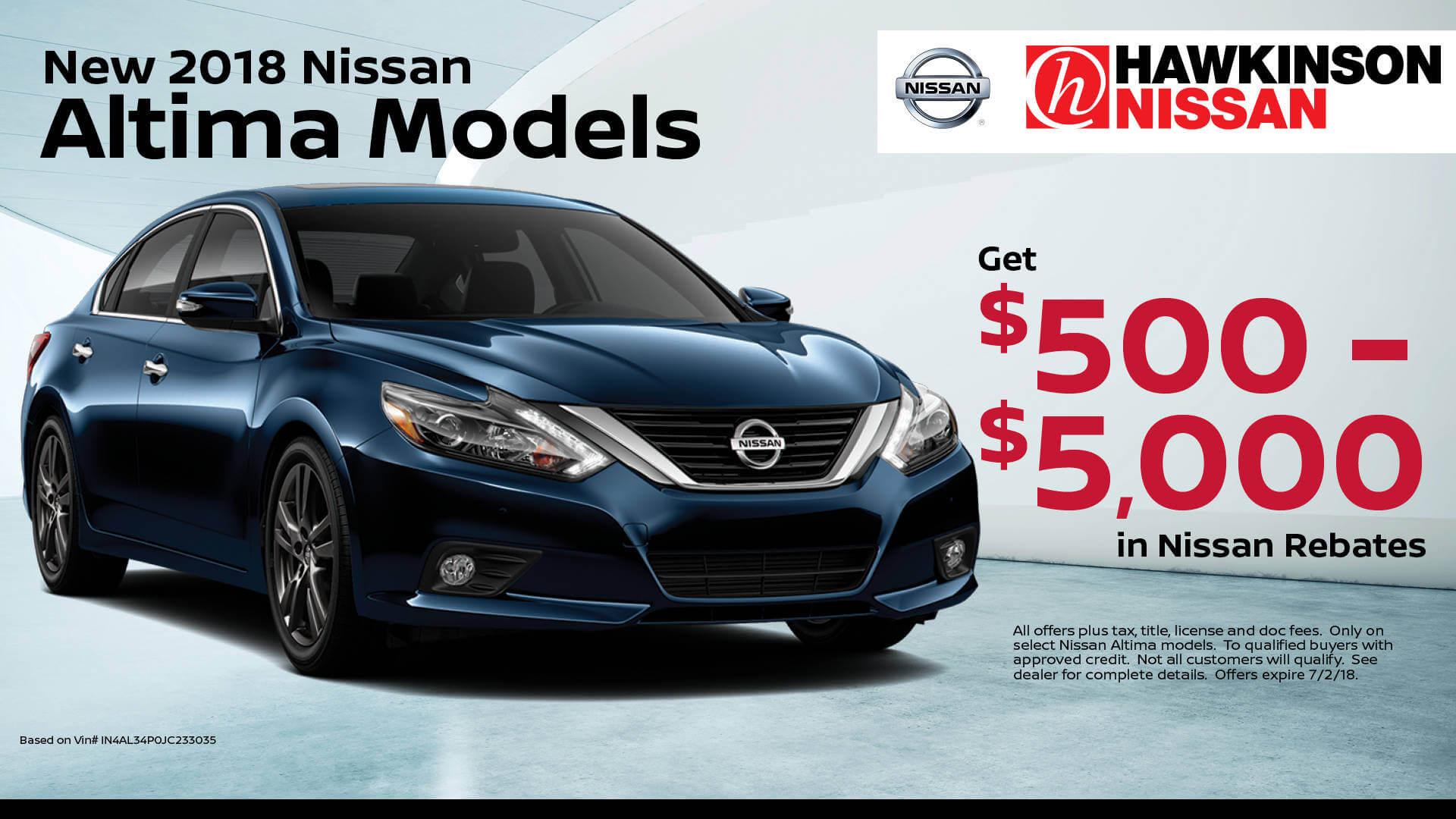 2018 Nissan Altima Models