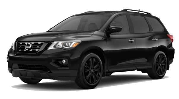 A black 2018 Nissan Pathfinder Midnight Edition