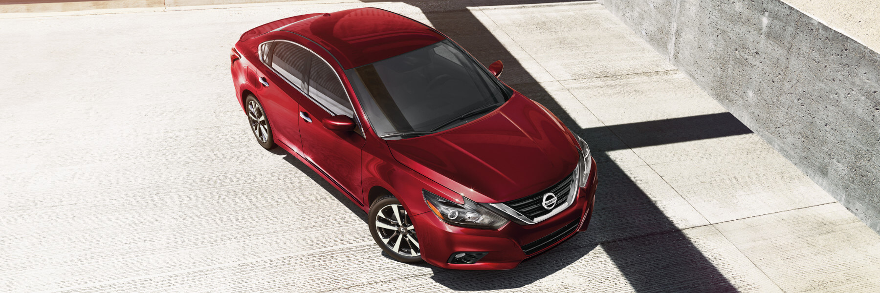 A red 2018 Nissan Altima