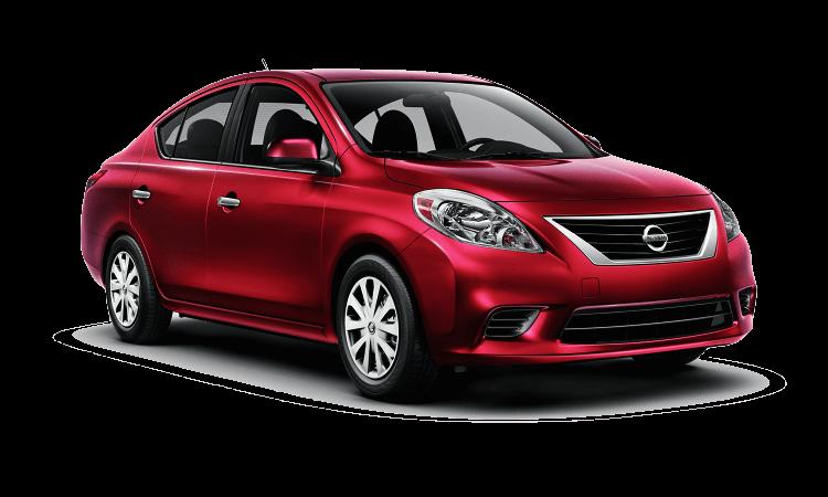 A red 2012 Nissan Versa