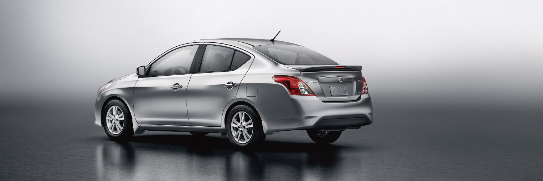 A silver Nissan Versa