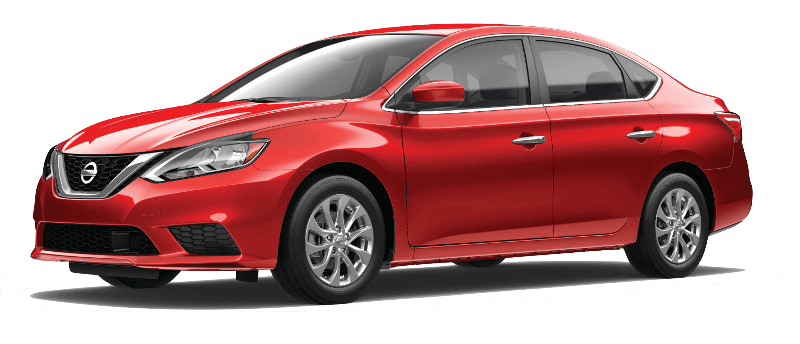 A red 2018 Nissan Sentra S
