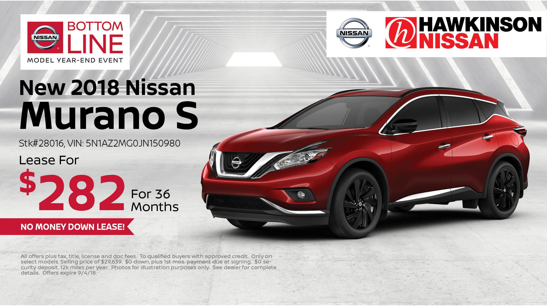 2018 Nissan Murano Special Offer