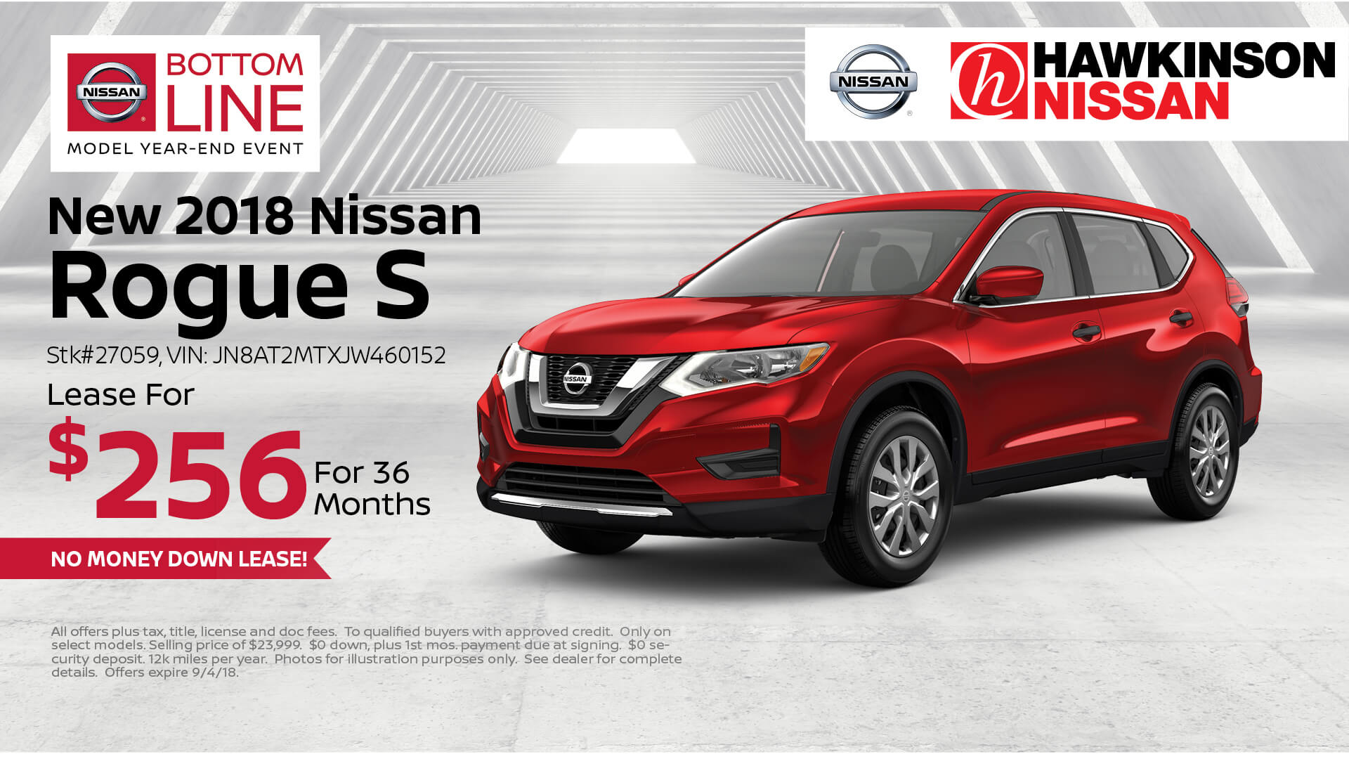 2018 Nissan Rogue S Special Offer