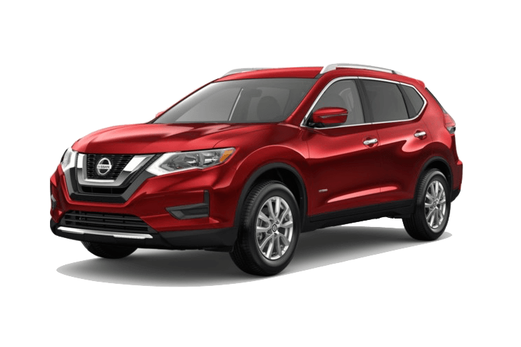 Red Nissan Rogue SV Hybrid