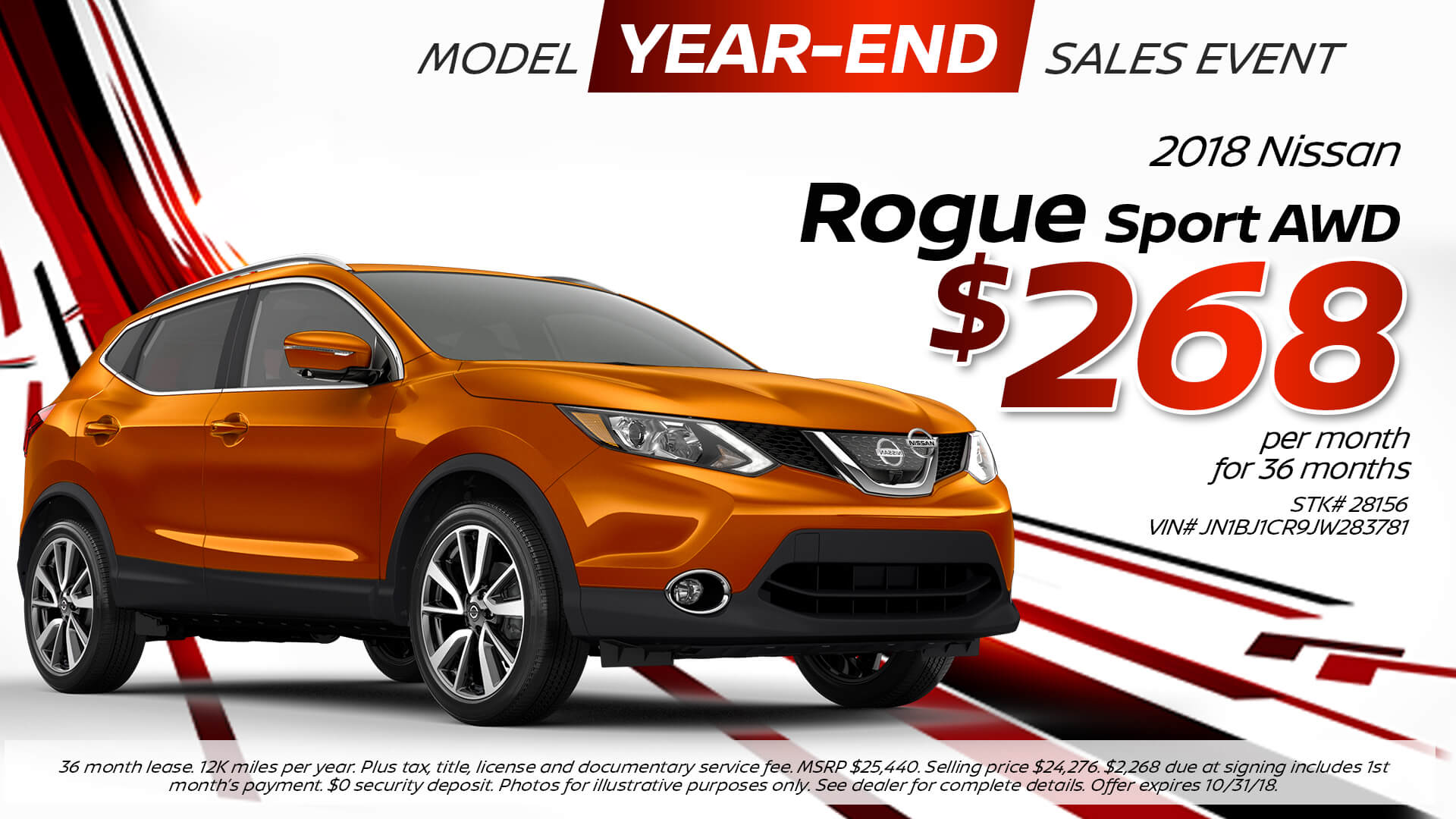 2018 Nissan Rogue Sport Special Offer