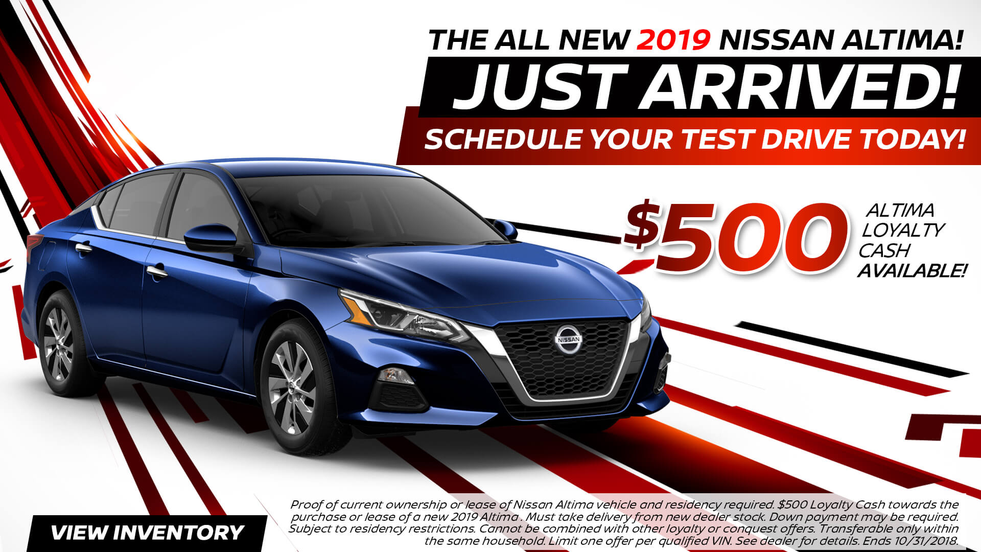 2018 Nissan Altima Special Offer