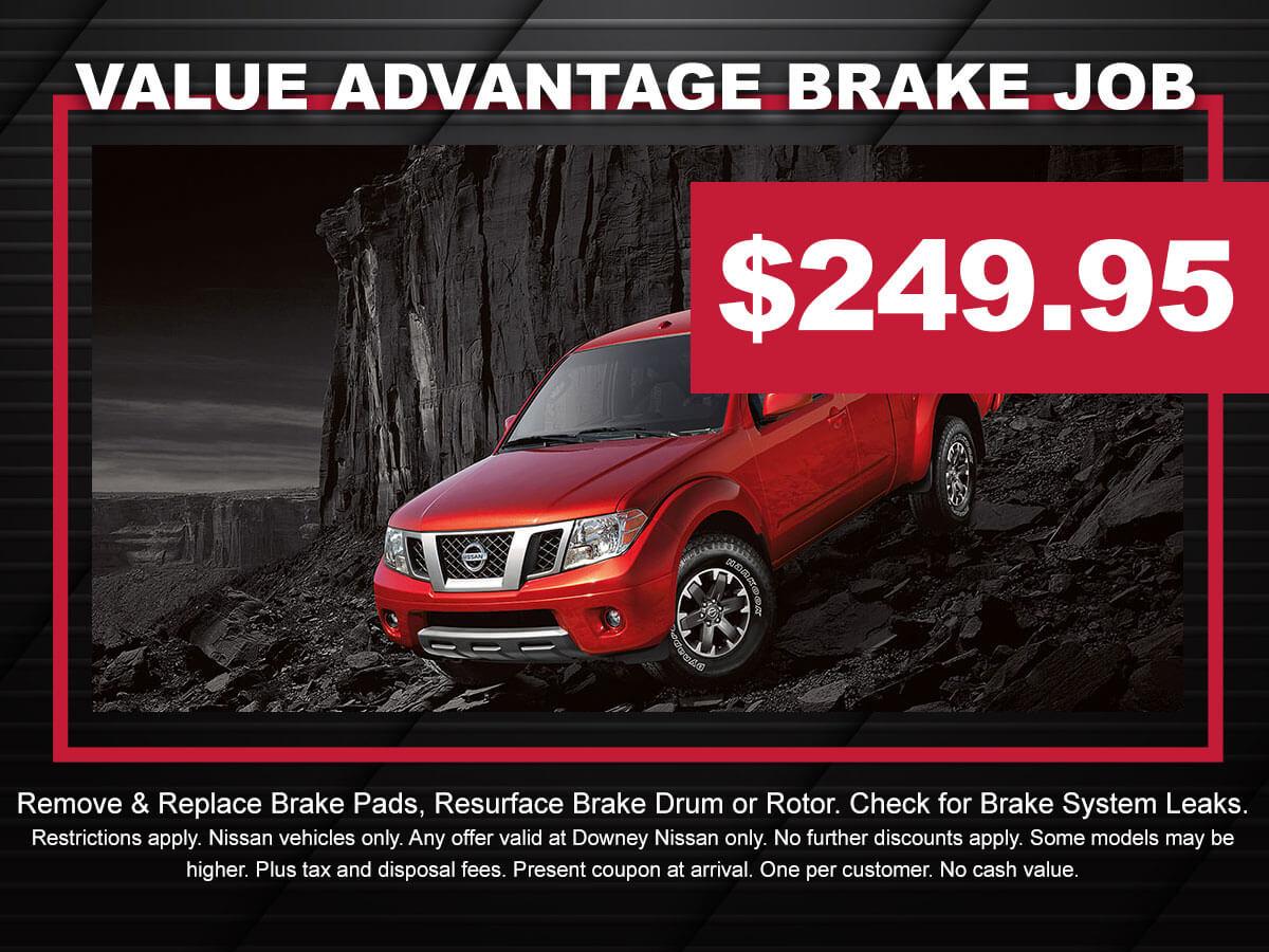 Nissan Value Advantage Brake Service